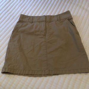 J Crew khaki size 0 skirt